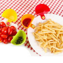 1 шт. Dip зажимы миска кухонные маленькие блюда зажим для специй для томатного соуса соль уксус сахар соль, специи и перца тарелки