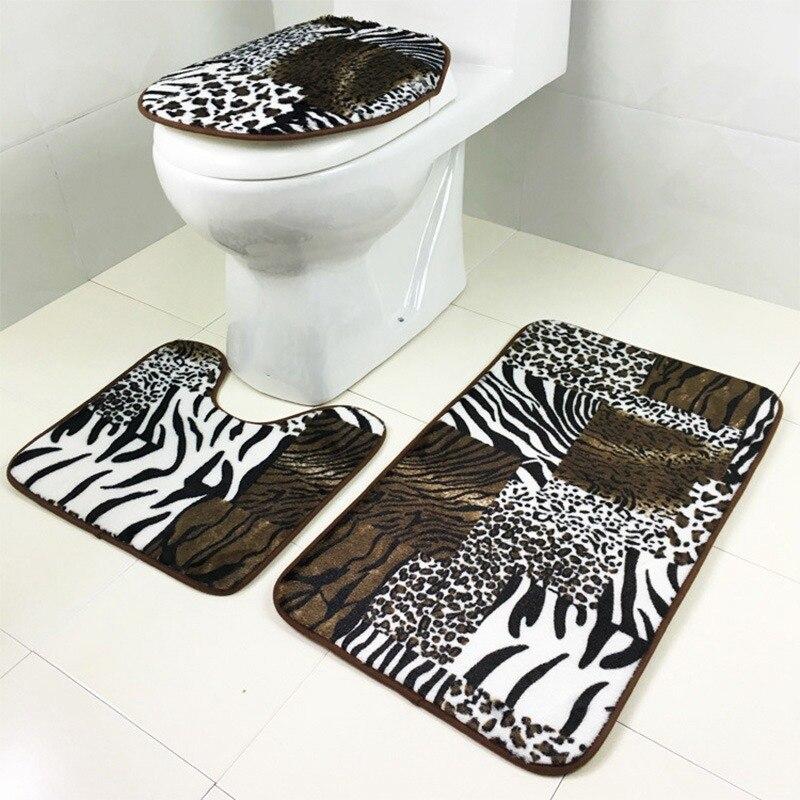 Great High Quality Bathroom Mat Bath Rug Printed Contour Mat Lid Cover Washroom  Carpet Home Shower Room