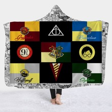3D Printed Super Soft Cozy Throw Blanket In Cap Warm for Couch Travel Hooded Anime Dropship