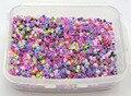 5000 Смешанная линия внутри Цвет Стекла Бисер 2 мм (10/0) + Ящик Для Хранения