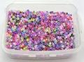 5000 Mixed forrada por dentro Cor Missangas de Vidro de 2mm (10/0) + Caixa De Armazenamento