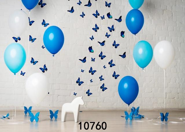 Christmas Party Decoration Balloon Photography Backdrops Children Birthday Brick Wall Photo Studio Background