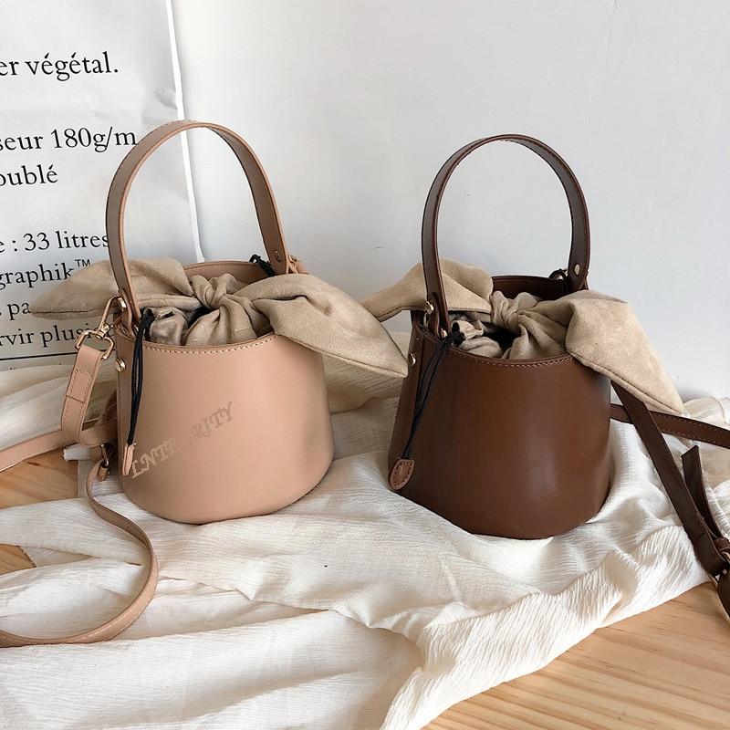 Designer Handbag Bucket-Bag Messenger-Bag Women Bag Waterproof High-Quality PU
