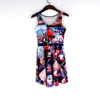אופנה קיץ לנשים מקרית מלחמת מט Chaoneng strike קבוצות דפוס דיגיטלי סקטים שמלות Bodycon Vestidos
