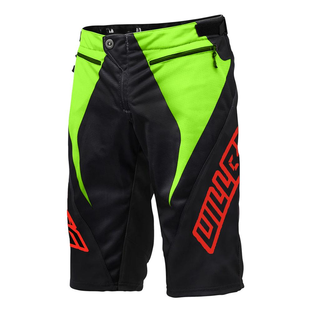 2019 The New One WillBros Black Green Sprint   Shorts   DH MX MTB BMX Racing Downhill Gear