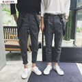2016 Brand Mens Overalls Fashion Bib  Skinny Overalls For Men grid Jean Homme Slim Suspender Pants XXL