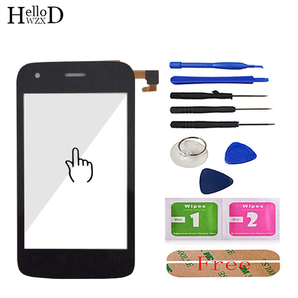 TouchGlass Touch Screen For Fly IQ245 IQ 245 Front Glass Digitizer Panel HighGlass Lens Sensor Parts Tools Free Adhesive