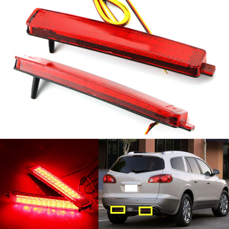 ФОТО Car Styling LED Rear Bumper Reflector LED Stop Brake Light Running Lamp For Buick Enclave 2008 2009 2010 2011 2012