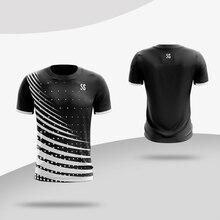 Спортивная одежда, быстросохнущая дышащая рубашка для бадминтона, Женская/Мужская одежда для настольного тенниса, тренировочная одежда для командных игр с коротким рукавом
