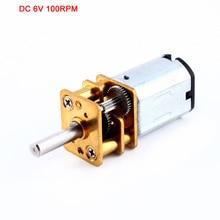 цена на 12GA DC 6V 100RPM Miniature Electric Reduction Gear Motor Metal Gearbox for RC robot model Toy DIY engine Camera motor