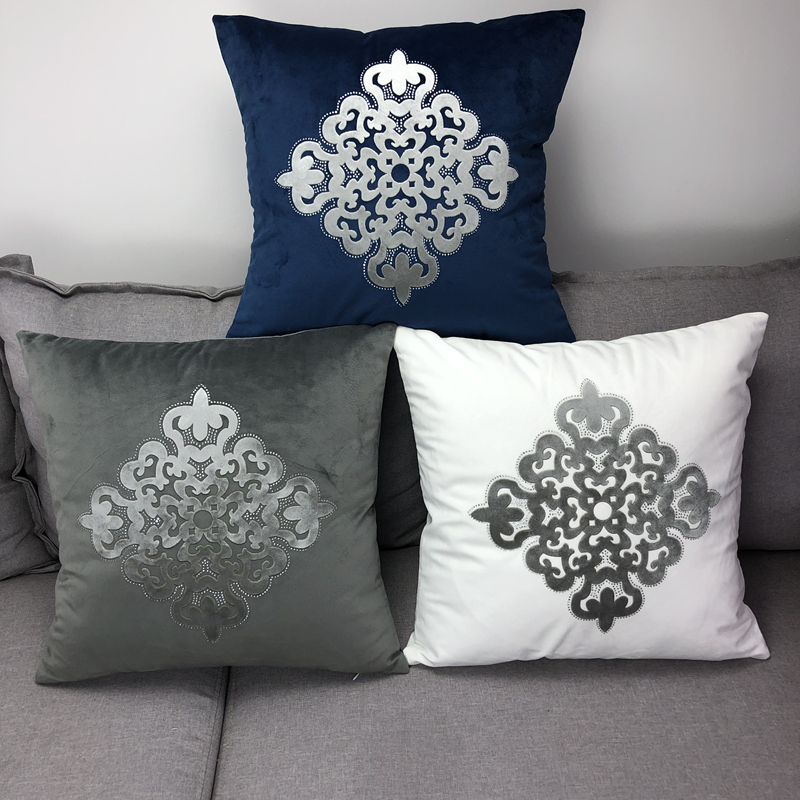 Velvet Cushion Covers With Diamond Fashion Simple High Quality Soft Pillowcase For Home Party Festival Car Chair Decoration