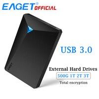 EAGET HDD Disque Dur Cryptage Disque Dur Externe Disque USB 3.0 haute Vitesse 500 GB 1 TB 2 TB 3 TB Téléphones De Bureau pour Ordinateur portable