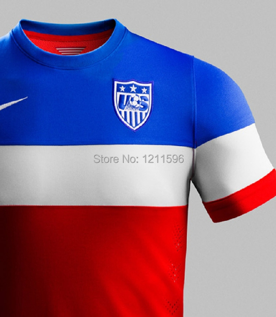 e0c57d284 2014 Brazil World Cup Team USA soccer jersey short sleeve jersey dress Away  Training Suit models