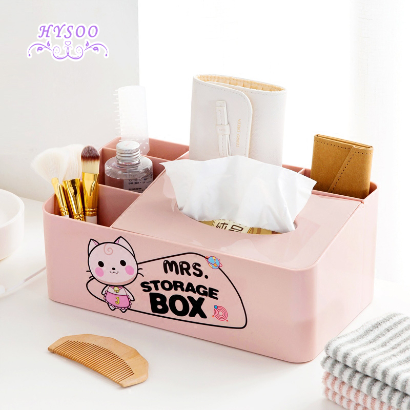 Cute Cartoon Tissue Box Creative Living Room Drawer Box