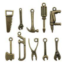 50 шт античный бронзовый тон 10 видов смешанных 3d инструментов