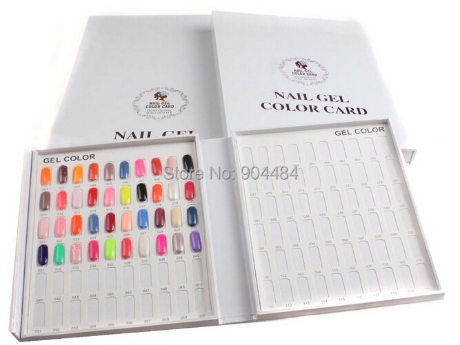 Nails Colors Chart Display Gel Polish Swatches Board Card Frame False Nail Tips Art Tip 120 Livre Nuancier Ongle Books Charts image