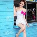 Nueva Llegada Caliente y Atractivo Del Amor Sin Tirantes Appliqued Cordón Blanco Elegante Vestidos de Coctel Cortos 2015 Vestidos Vestido de Cóctel