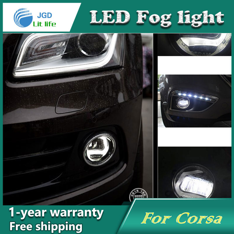 Super White LED Daytime Running Lights For Opel Corsa 2007 Drl Light Bar Parking Car Fog Lights 12V DC Head Lamp for opel astra h gtc 2005 15 h11 wiring harness sockets wire connector switch 2 fog lights drl front bumper 5d lens led lamp