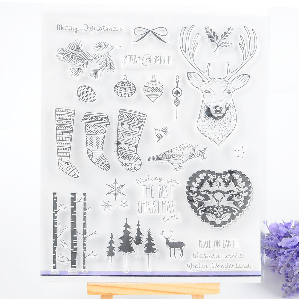 Rubber stamp craft supplies - Clear Stamp For Scrapbooking Diy Album Paper Card Making Transparent Silicone Seal Stamp Christmas Decoration Craft Supplies