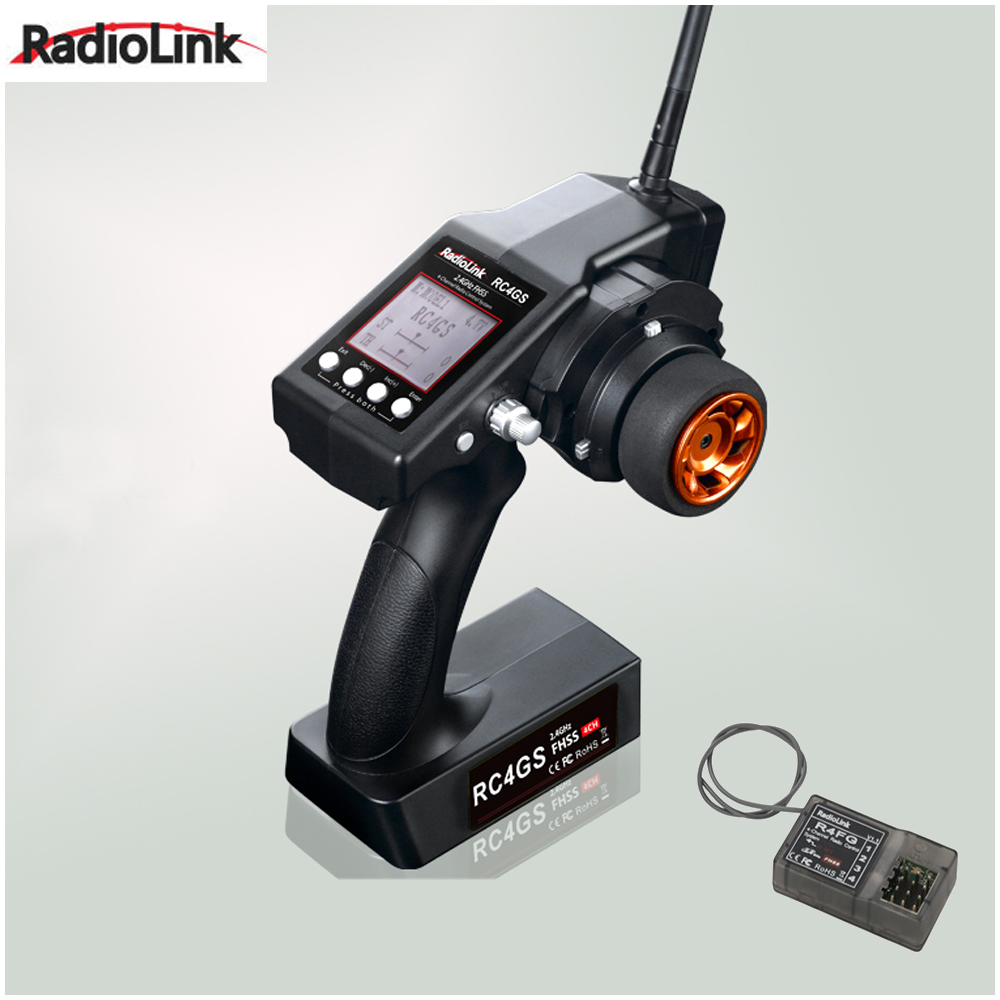 RadioLink RC4GS 2.4G 4CH Car Controller Transmitter + R4FG-G Gyro Inside Receiver for RC Car Boat (400m Distance) mitya veselkov mitya veselkov mv shine 21