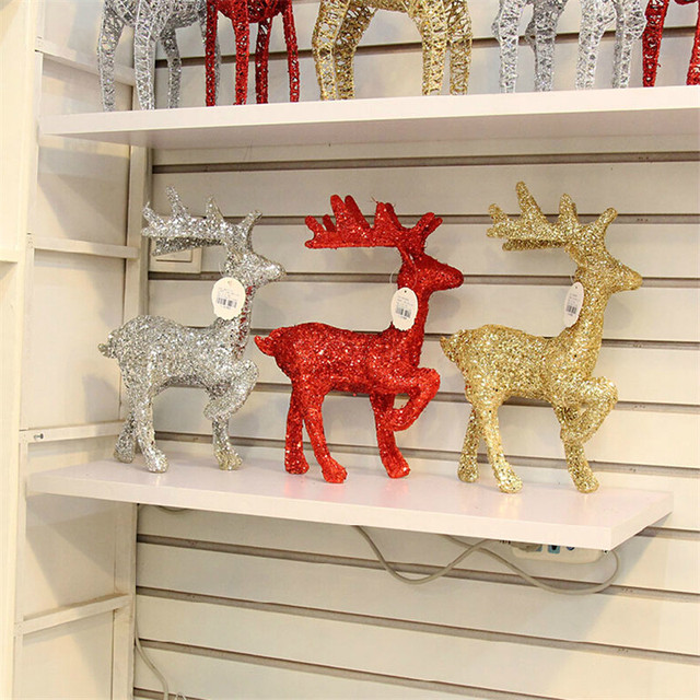 reno tree decoracion de navidad sequins reindeer decor christmas deer home attractive and durable personalized ornaments - Christmas Deer Decor