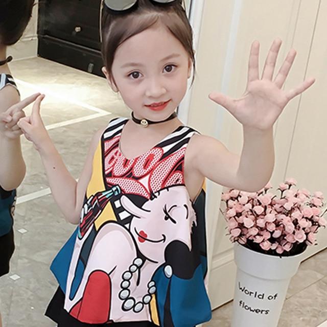 2019 Summer Korean Baby Girls Clothing Set Children 2pcs