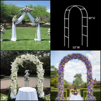 Steel pipe material Wedding Arch Pergola Garden Metal Backdrop Stand For Marriage birthday wedding Party Decoration DIY Arch
