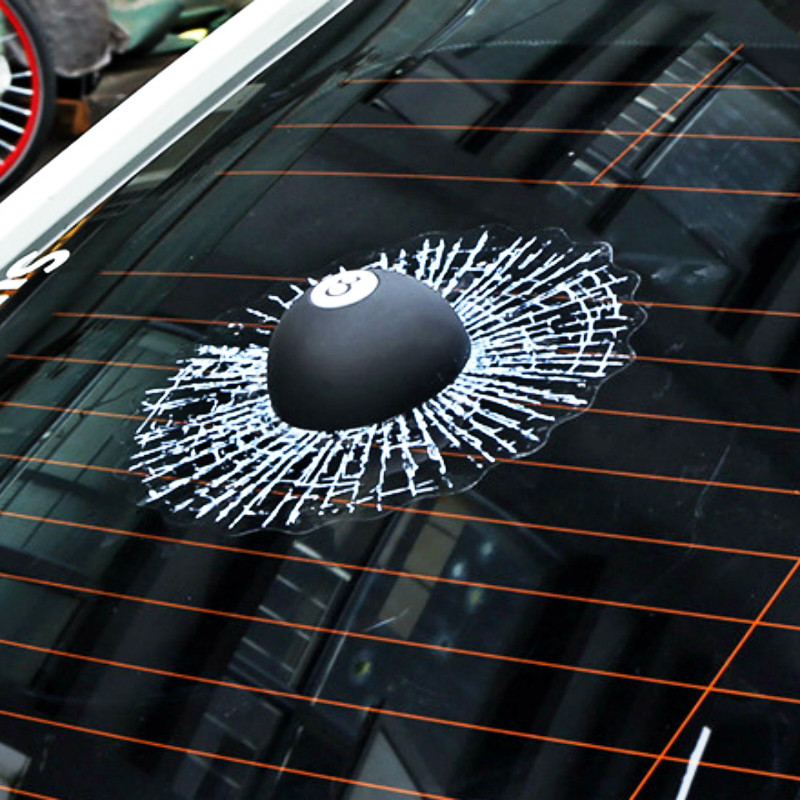 Aliauto Car Styling POOL EIGHT BALL Hit The Window Accessories Funny 3D Car Sticker and Decal for Ford Focus 2 3 Volkswagen Bmw