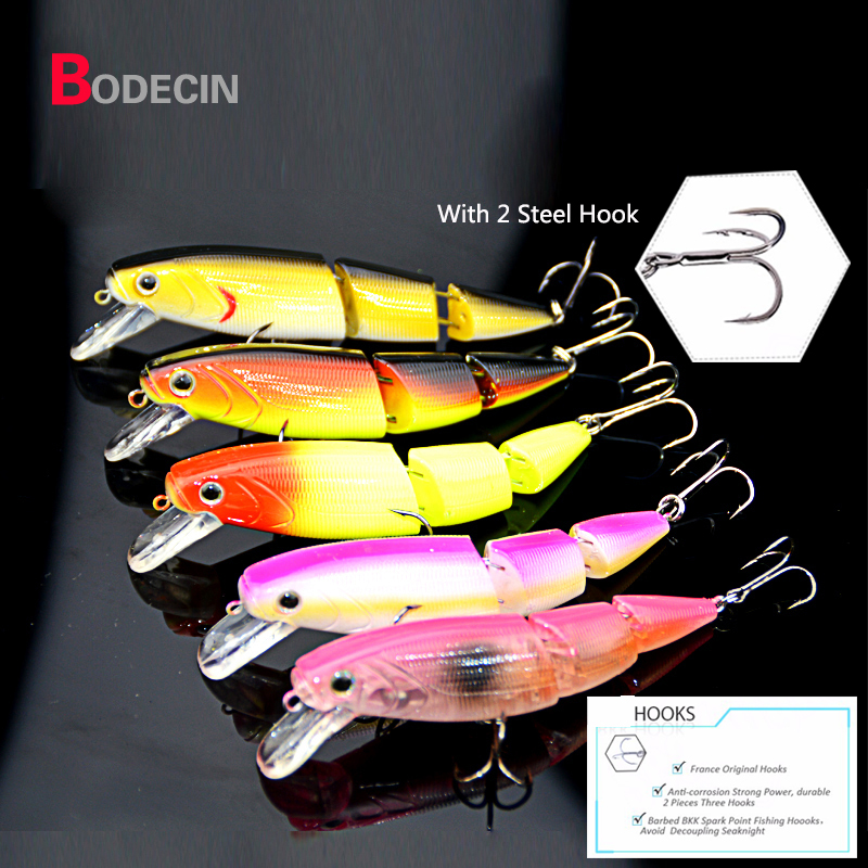 1PCS 11cm 15.2G 3 Sections Swimbait Hard Baits Floating Minnow Lures Artificial Fishing Lure Bait Top Water Hook Crankbait Bass tsurinoya fishing lure minnow hard bait swimbait mini fish lures crankbait fishing tackle with 2 hook 42mm 3d eyes 10 colors set