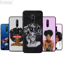 Melanin Poppin Silicone Case for Oneplus 7 7Pro 5T 6 6T Black Soft Case for Oneplus 7 7 Pro TPU Phone Cover