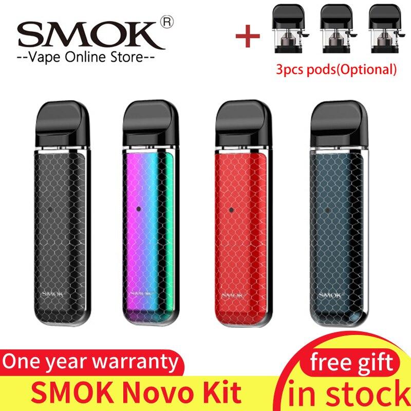 Kit Original SMOK novo kit de stylo à vape recouvert de cobra avec batterie intégrée de 450 mAh kit de vape à dosette de 2 ml de capacité