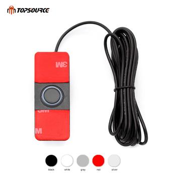 Czujniki parkowania samochodu Parktronics 13mm płaskie czujniki czujnik pomocniczy cofania dźwięk Alarm dźwiękowy regulowany dźwięk tanie i dobre opinie TOPSOURCE Niewidoczne TS200 Chiński (uproszczony) 0 3-2m 6 colors-- Black White Silver Red Gray Blue