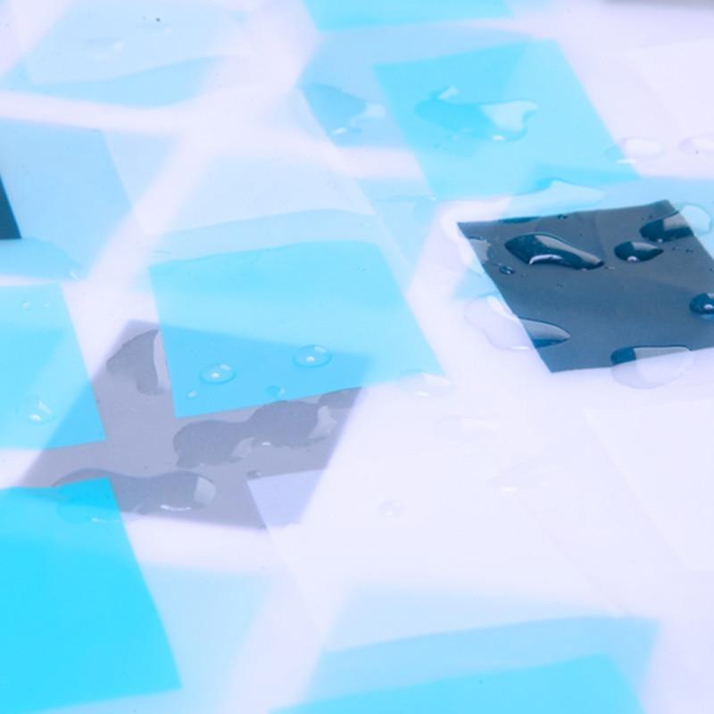 Elegante rasterstijl Waterdichte douchegordijnen Warme ondoorzichtige - Huishouden - Foto 3