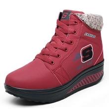 ฤดูใบไม้ร่วงใหม่ร้อนฤดูหนาวผู้หญิงรองเท้าหิมะอบอุ่นบวกหนากำมะหยี่ลิ่มข้อเท้าสำหรับผู้หญิงในช่วงฤดูหนาวรองเท้าแพลตฟอร์มขนZ Apatos Mujer