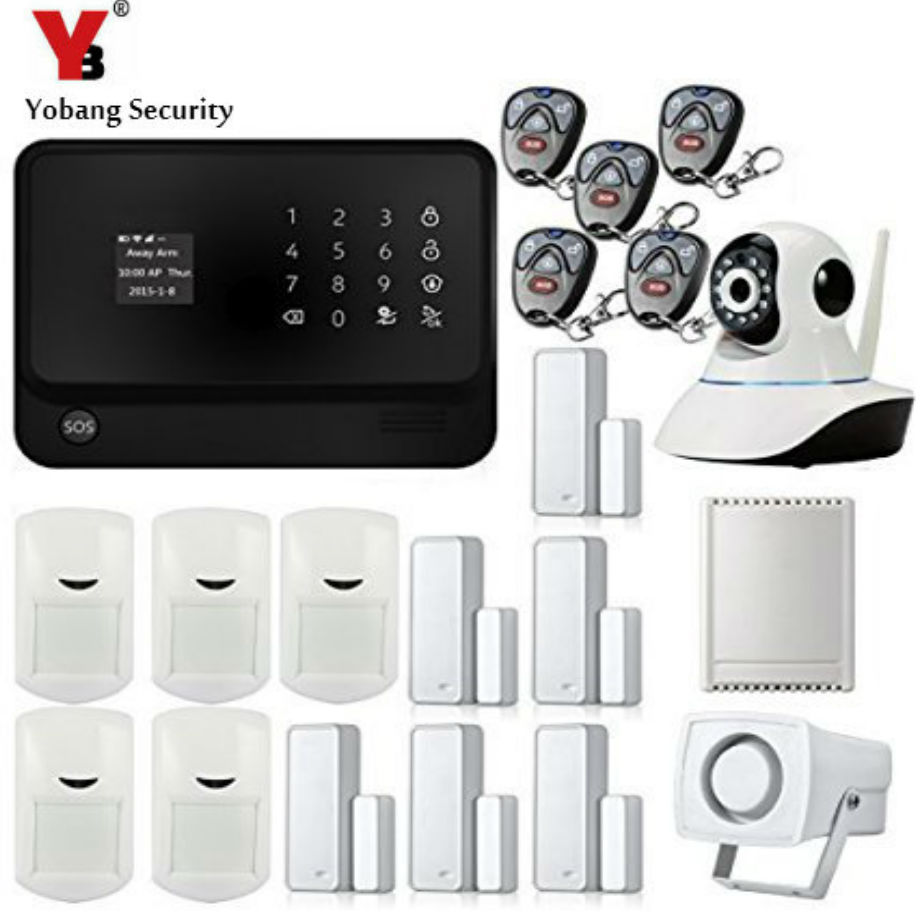 YobangSecurity Wireless Wired G90B GSM WIFI House Alarm System With Camera Relay Door PIR Door Alarm Sensor 12v 3a 4ch 200m wireless relay for wifi gsm alarm system