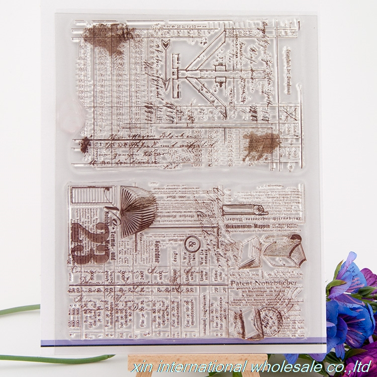 stamp DIY embossing folders plastic ACRYLIC VINTAGE FOR PHOTO SCRAPBOOKING stamp clear stamps for scrapbooking clear stamps 05 scrapbooking stamp diy size 14cm 18cm acrylic vintage for photo scrapbooking stamp clear stamps for scrapbooking clear stamps 04