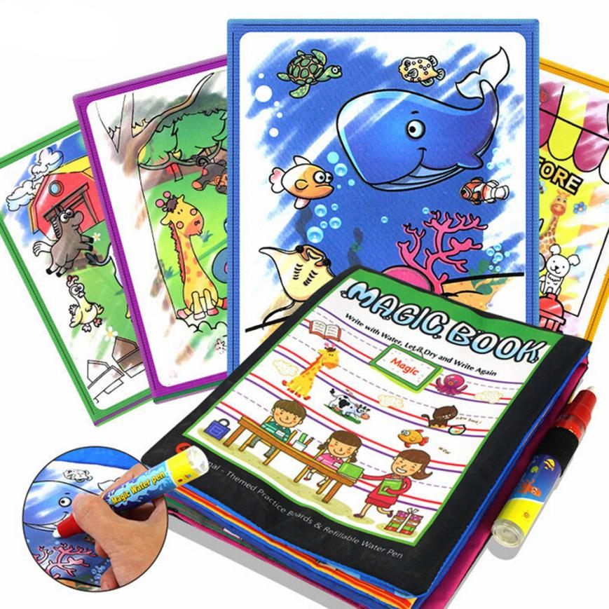 CHANSEEND HOT Sell Soft New Cloth Baby Kids Story Cloth Book Magic Doodling Water Drawing Mats