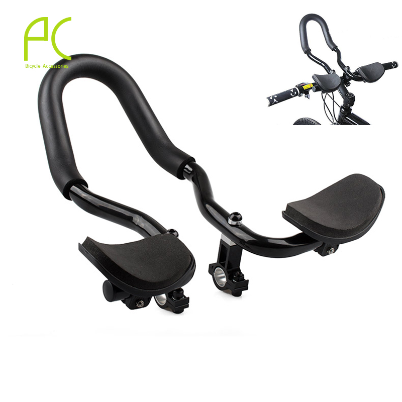 PCycling Road Mountain Bike Rest Handlebar Cycling Race Bicycle MTB Aluminum Alloy Triathlon Aero Handlebar TT Handlebar