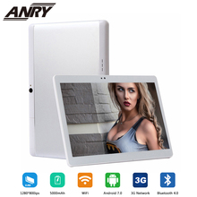 ANRY Android 7.0 10.1 Inch Tablet PC WiFi Bluetooth IPS 1280x800 Touch Screen 4GB RAM +32GB ROM Dual Camera PC Tab 5000mAh original new samsung galaxy tab s t705 4g wifi tablet pc 8 4 inch 3gb ram 16gb rom 8mp camera 2560x1600px 4900mah android pc