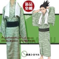 Hot Anime Naruto Nara Shikamaru Cospaly Costumes Laguna De La Vera Printing Halloween Bathrobe Kimono Suit Full Set In Stock