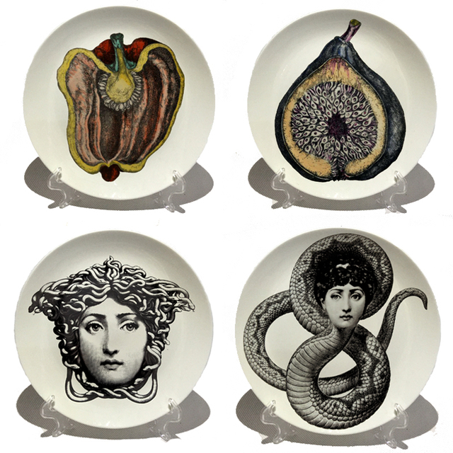 Fornasetti plates Art Beauty Face SKULL Custom los platos for art bedroom home cafe fashion decoration  sc 1 st  AliExpress.com : decorative face plates - pezcame.com