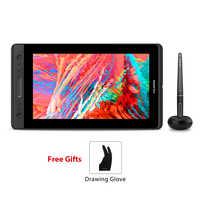 HUION KAMVAS Pro 13 GT-133 lápiz Monitor tableta digital gráfica sin batería lápiz Tablet Monitor de dibujo con función de inclinación