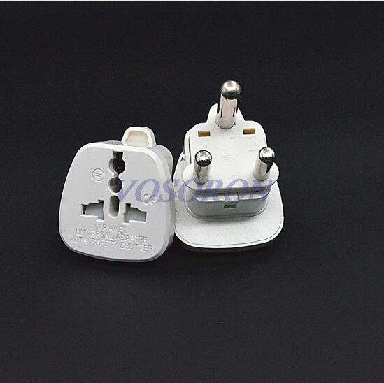 10pcs lot White Universal US UK EU to Big South Africa Travel Wall AC Power Charger