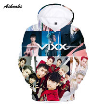 Aikooki Famous Band VIXX 3D Sweatshirts Men/Women Hoodies 3D Print Men Autumn Winter Pop Thin Cotton Hooded Hoody Fashion Tops(China)