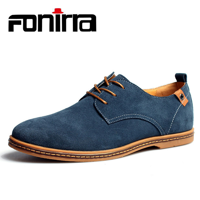 FONIRRA 2019 Classic New Men's Oxford Genuine Leather Casual Shoes Autumn Summer Men Dress Shoes Solid Flat Italian Sneakers 046