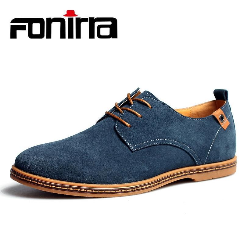 FONIRRA 2019 New font b Men s b font Genuine Leather Casual font b Shoes b