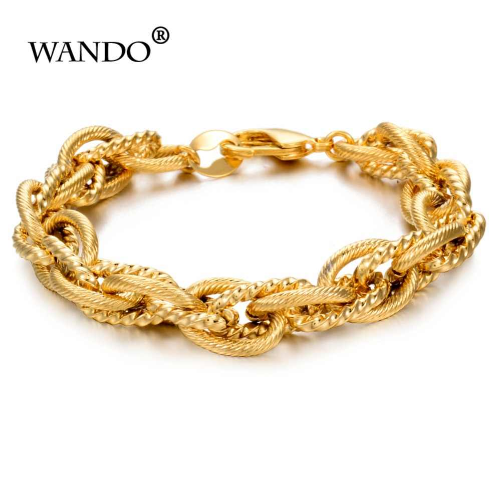 WANDO  1PCS Classic men and women chain bracelets jewelry gold bracelets Islamic Arabia Middle East African gifts B48
