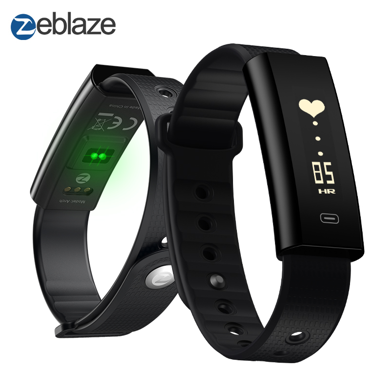 Zeblaze Arch Blood Pressure/Blood Oxygen Smart Wristband Heart Rate Monitor Weekly Health Report IP67 Fitness Bracelet zeblaze zeband plus smart bracelet blue