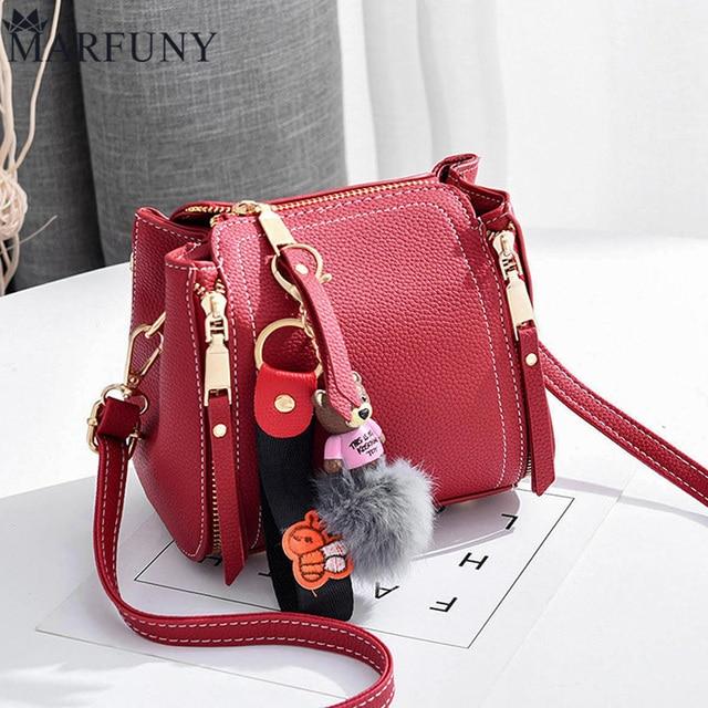 MARFUNY Brand Bucket Crossbody Bags For Women Bag 2018 Pu Leather Bags Handbags Female Shoulder Bag With Cute Bear Fashion Sac