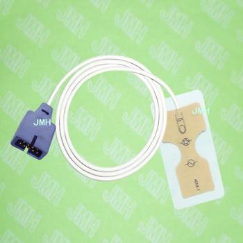 Compatible DB9 9pin Nellcor Pulse Oximeter monitor the Adult disposable SPO2 sensor(Non-woven),5 pcs.